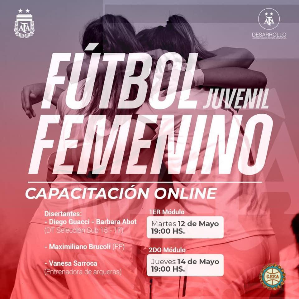 Capacitación Fútbol Femenino Juvenil de Argentina
