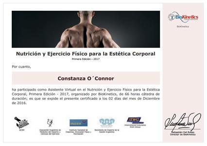 Certificado de Nutrición y Ejercicio Físico para la Estética Corporal