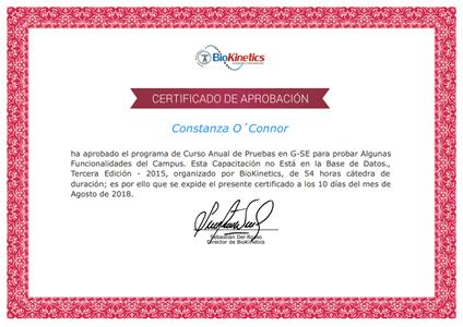 Certificado de Entrenamiento de la Fuerza Explosiva