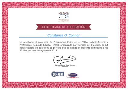 Certificado de Aprobación - Carlos Borzi