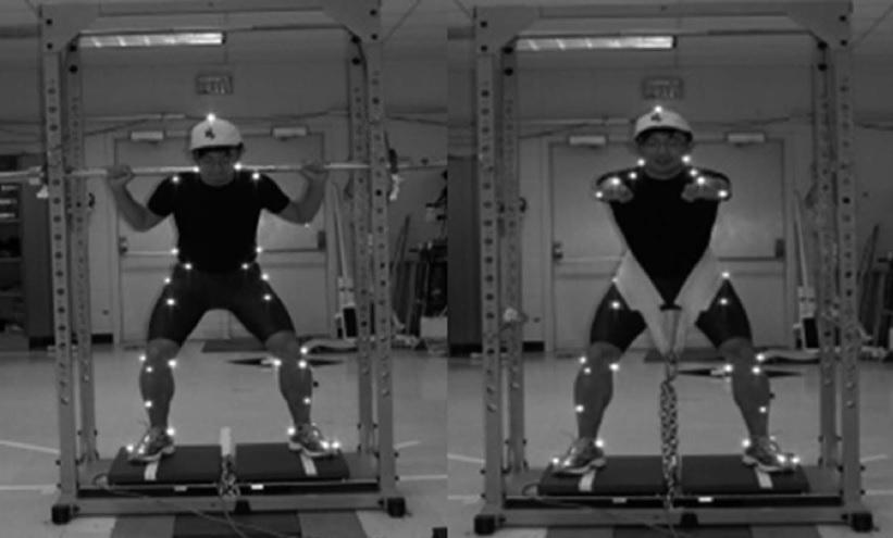 Análisis cinético de la sentadilla isométrica con barra atrás y la sentadilla isométrica con cinturón de carga
